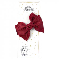 HAIR CLIP ROMANTIC BOW RED...