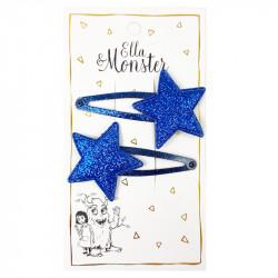 BLUE GLITTER STAR HAIR CLIP...
