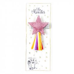HAIR CLIP STAR MEDAL ROSE -...