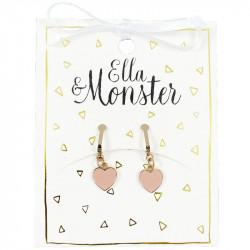 ROSE HEART CLIP ON EARRINGS...