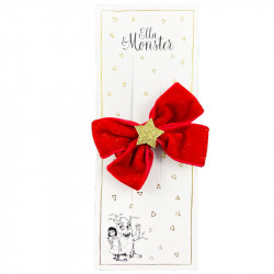 ROMANTIC CHRISTMAS BOW RED...